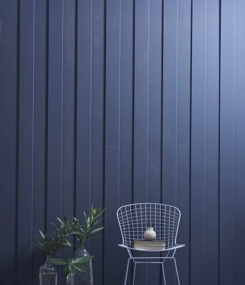 Dark blue painted fence