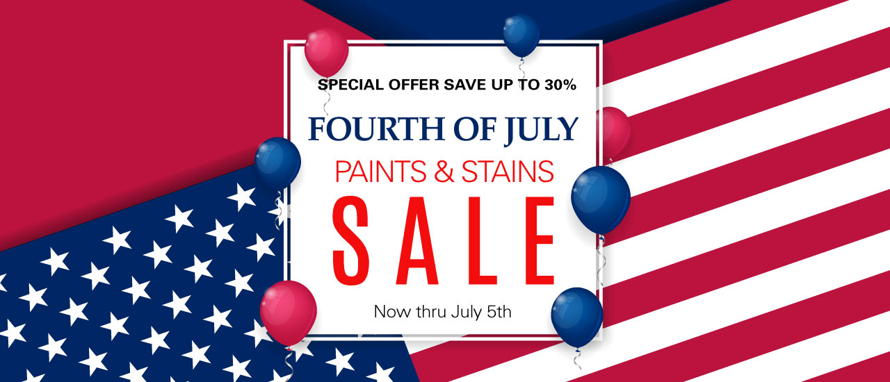 July fourth paint sale