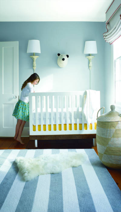 Nursery painted pale blue