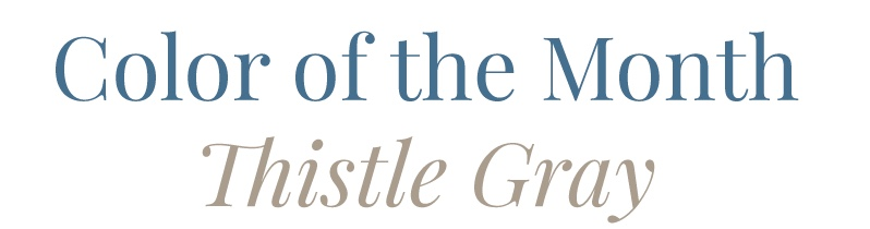 "Hirshfield"" Color of the Month Thistle Gray 0197"