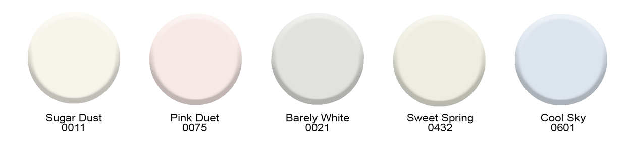 White paint colors from Hirshfield's