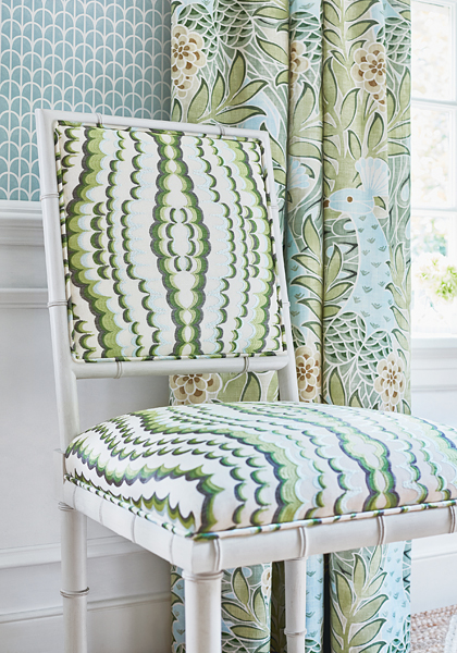 Ebru fabric from Thibaut