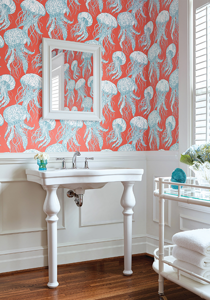 Thibaut Jellyfish Wallcovering