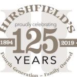 Hirshfield's 125 years in business logo
