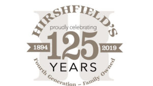 Hirshfield's 125 years in business logo