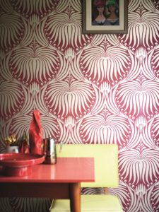 Metallic wallpaper by Farrow & Ball