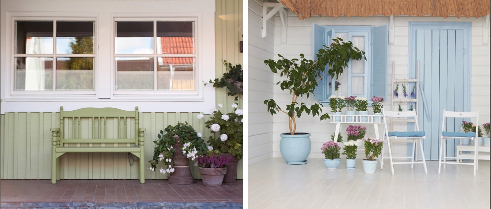 Backyard refresh with Hirshfield's paint colors