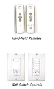 motorized automixed hand held remotes wall switch controls hunter douglas