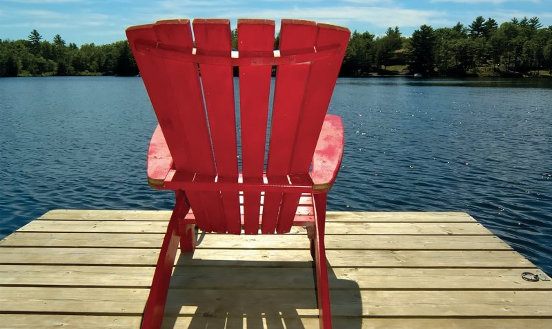 Adirondack Chair at the lake