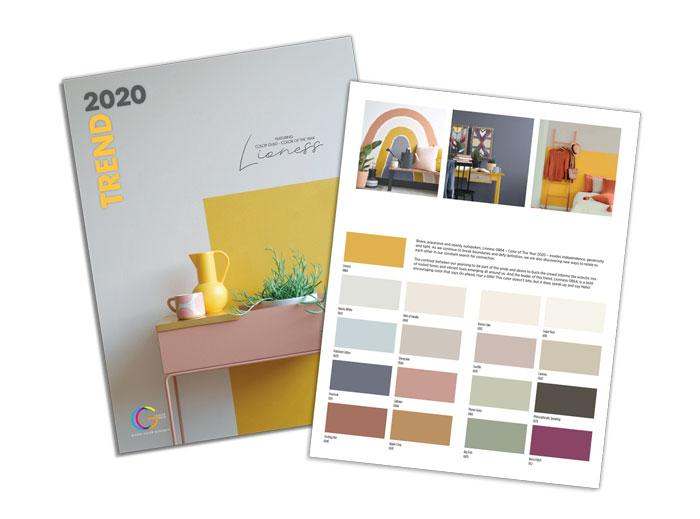 Hirshfield's 2020 Color Trends card