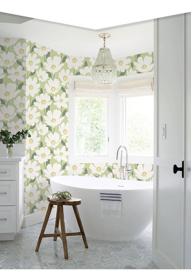 astera-green-floral-wallpaper