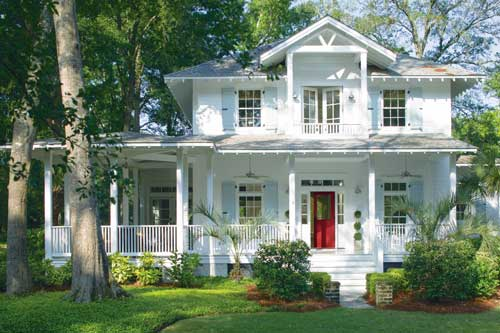 White_Two_Story_House_with_Blue_Shutters