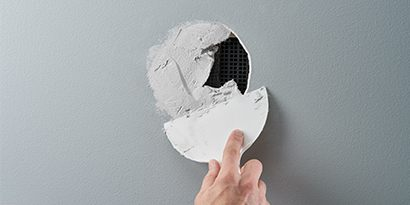 hole repair spackling drywall