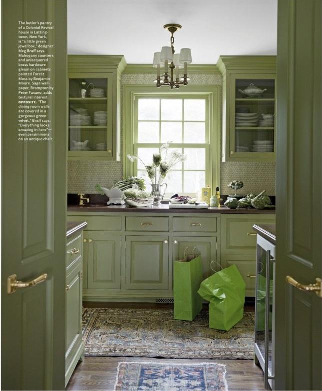 51 Green Kitchen Designs: Forestmossbm.jpeg