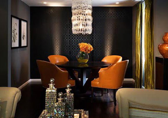 Wonderful Gentle Black Wall Paint In Home Interior3