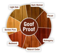 ready seal stains goof proof colors
