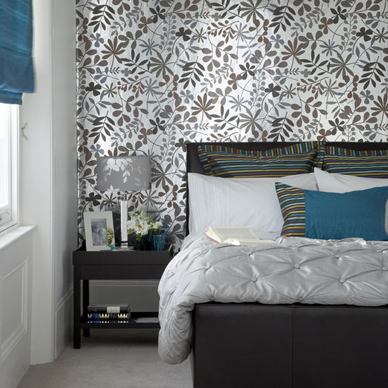 leafs wallpaper bedroom