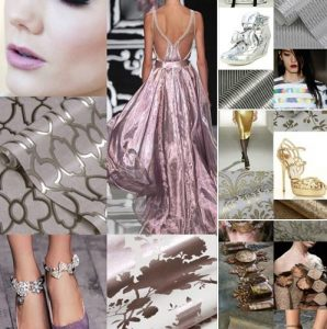 collage of metallics mylar wallpaper wednesday