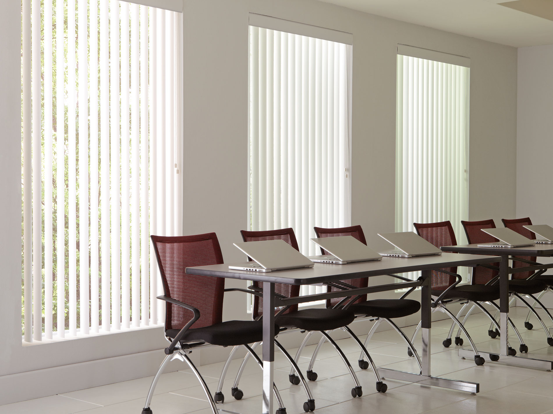 premiere blinds vertical white